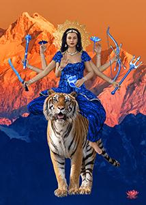 Durga  8x10 on Black Styrene