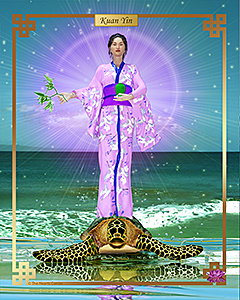 Kuan Yin Turtle 5 x 7