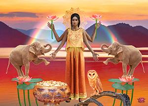 Lakshmi Rainbow 8x10